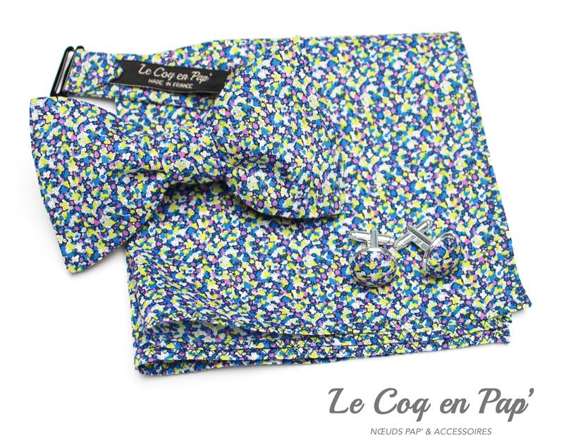Coffret-trio-noeud-papillon-liberty-bleu-jaune-mauve--Le-Coq-en-pap