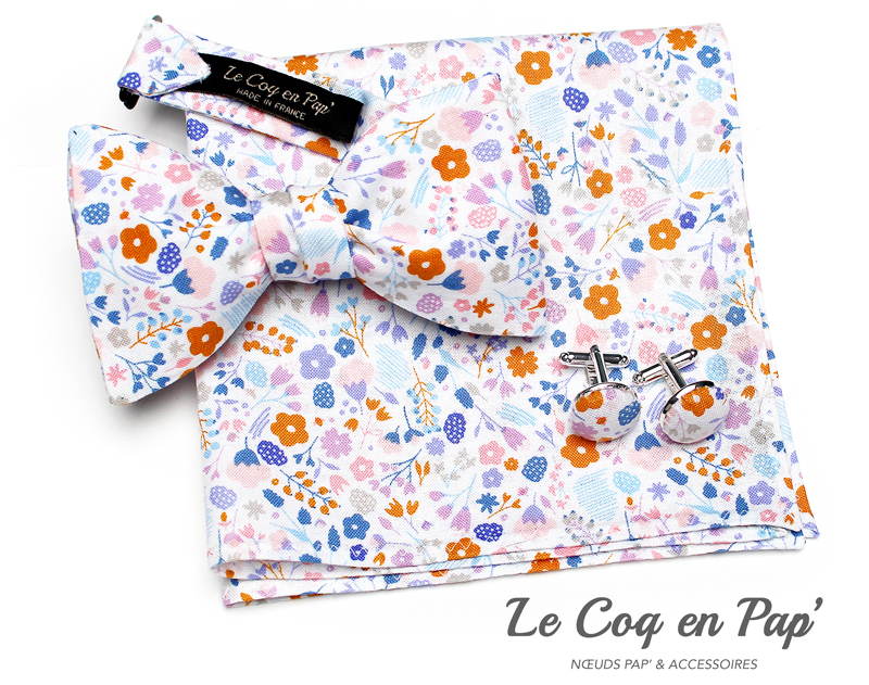 Coffret-trio-noeud-papillon-liberty-orange-rose-blancl-Le-Coq-en-pap