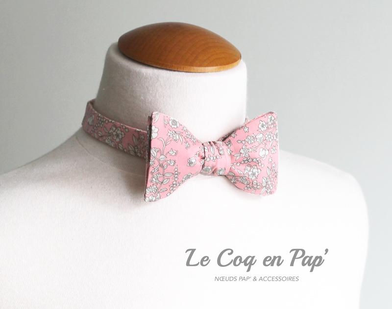 Liberty-noeud-papillon-cappel-rose-Le-Coq-en-Pap
