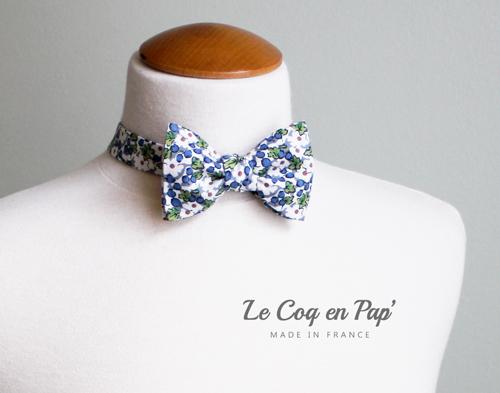 Noeud-Papillon-fleuris-bleu-blanc-lecoqenpap
