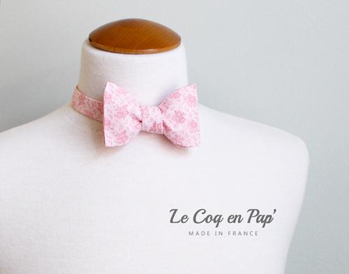 Noeud-Papillon-vintage-rose-clair-motifs-lecoqenpap