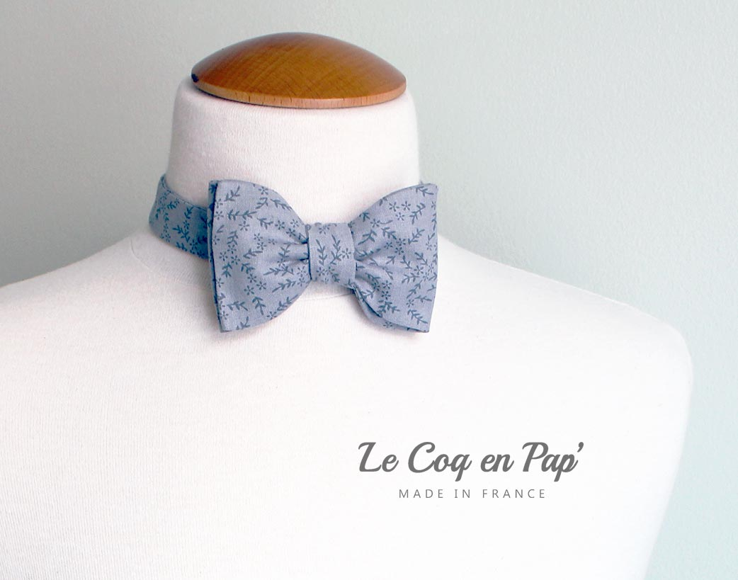 Noeud-papillon-Gris-motif-fleur-www-lecoqenpap-fr