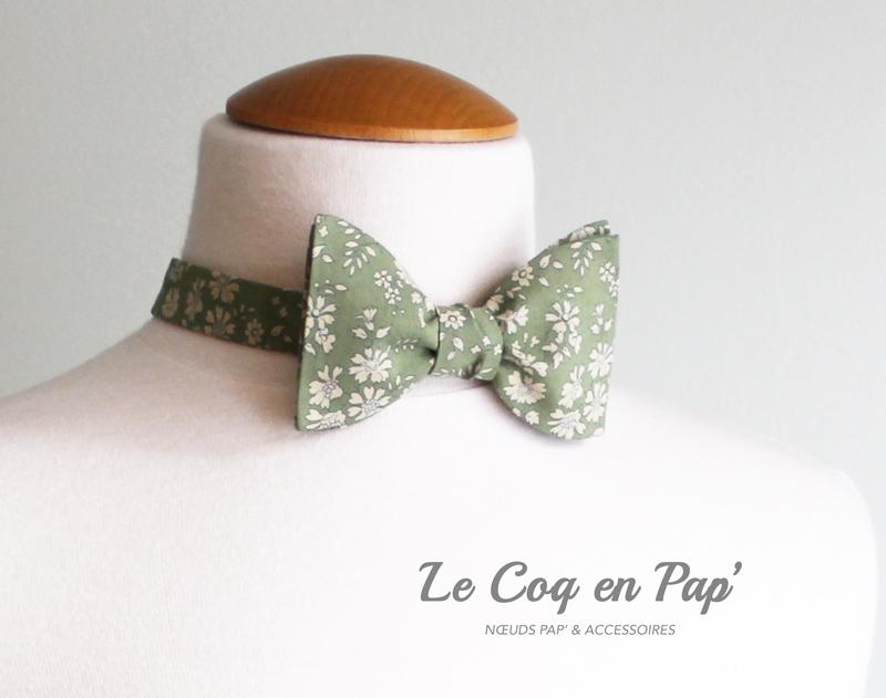 Noeud-papillon-Liberty-Cappel-Vert-Olive