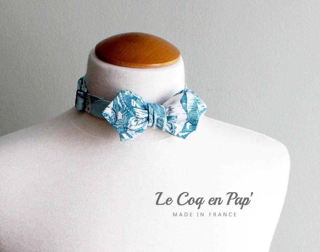 Noeud-papillon-toile-de-jouy-bleu-blanc-diamant-lecoqenpap