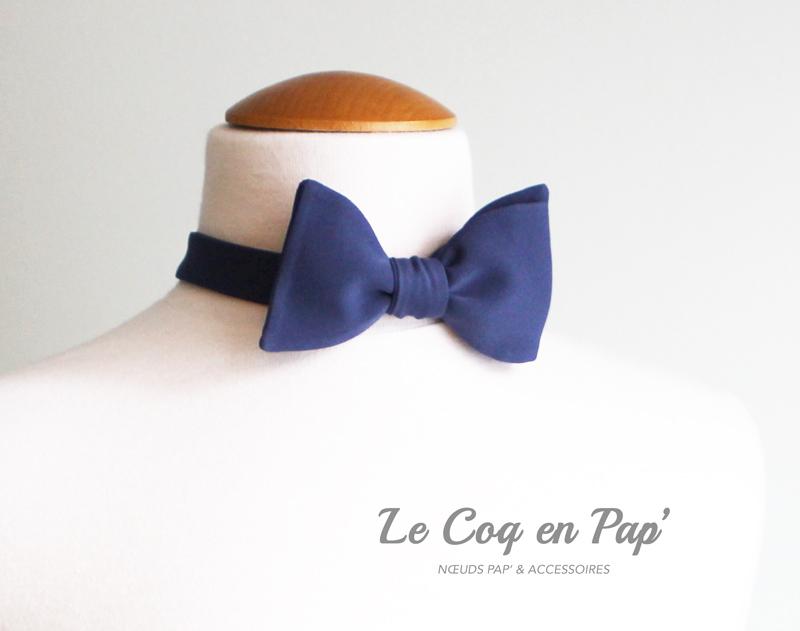 Noeud-papillon-uni-marine-Le-Coq-en-Pap