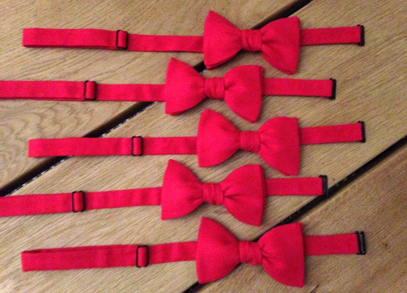 Theme rouge noeud papillon mariage lecoqenpap