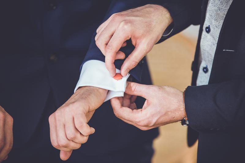 boutons de manchette corail lecoqenpap