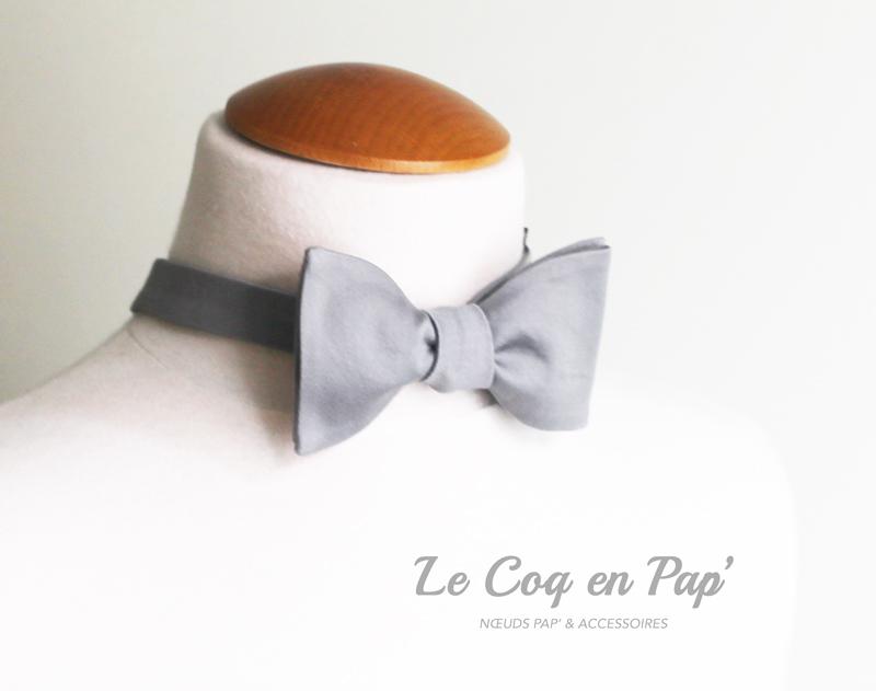 noeud-papillon-gris-satin-Le-Coq-en-Pap
