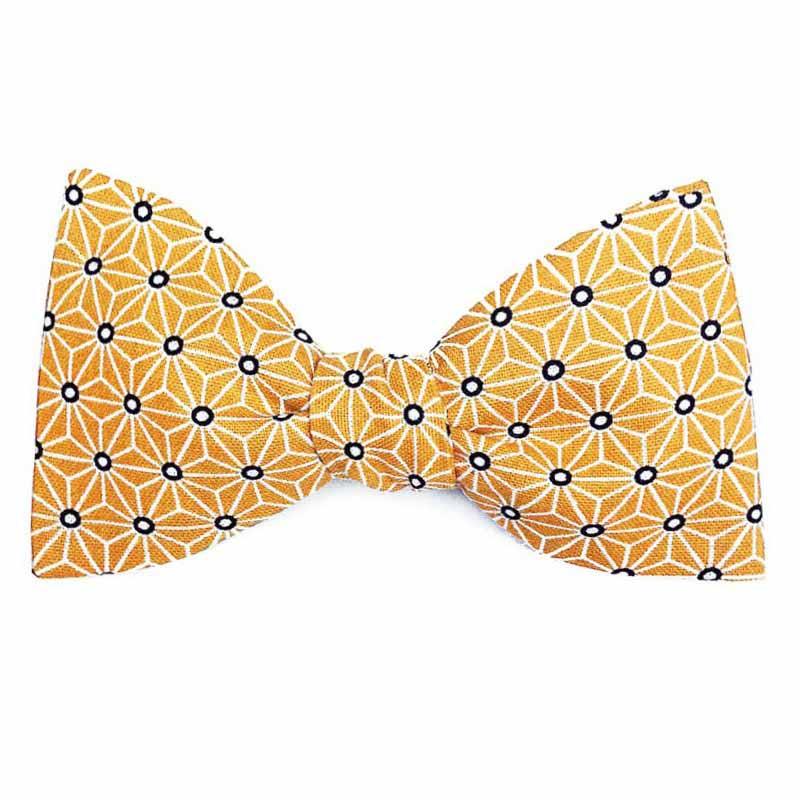 9a9f53357f6ed Noeud papillon Japonais jaune graphique - Le Coq en Pap'