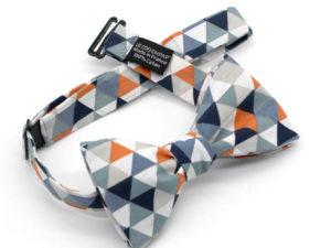 Le Coq en Pap' - Noeud papillon orange bleu pourpre trimix