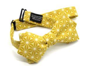 Le Coq en Pap' - Noeud papillon jaune moutarde japonais fuji