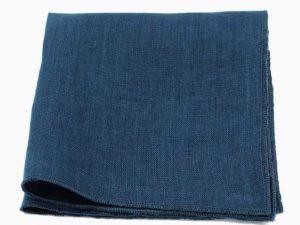 Le Coq en Pap' - Pochette de costume bleu marine uni en lin
