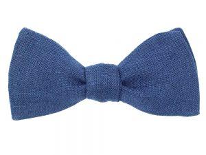 Le Coq en Pap' - Noeud papillon bleu marine uni en lin