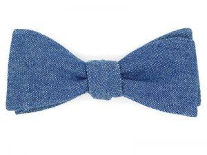 Le Coq en Pap' - Noeud papillon bleu denim jean brut foncé