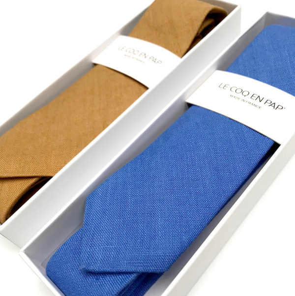 Le Coq en Pap' - Cravate Tissus au choix