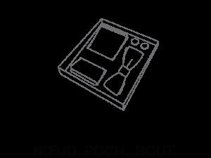 Le Coq en Pap' - Coffret noeud papillon, pochette, boutons Tissus au choix