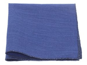 Le Coq en Pap' - Lin uni Bleu Marine - Pochette