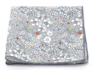 Le Coq en Pap' - Pochette de costume fleuri liberty june's meadow