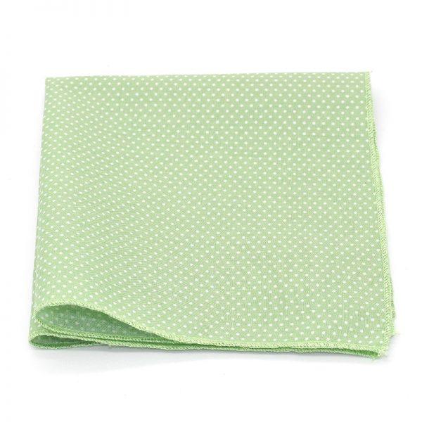 Le Coq en Pap' - Pochette de costume vert amande à pois