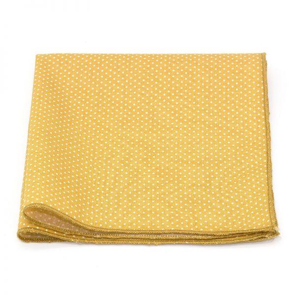 Le Coq en Pap' - Pochette de costume jaune moutarde à pois
