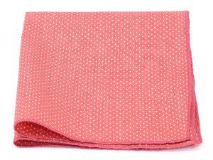 Le Coq en Pap' - Pochette de costume rose corail à pois