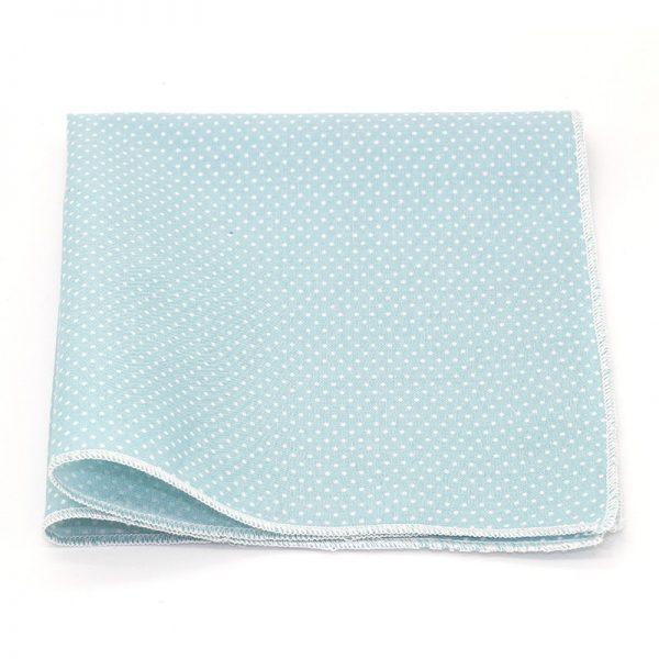 Le Coq en Pap' - Pochette de costume bleu ciel à pois