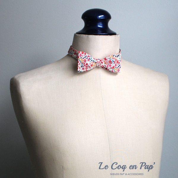 Le Coq en Pap' - Noeud papillon fleuri liberty phoebe m