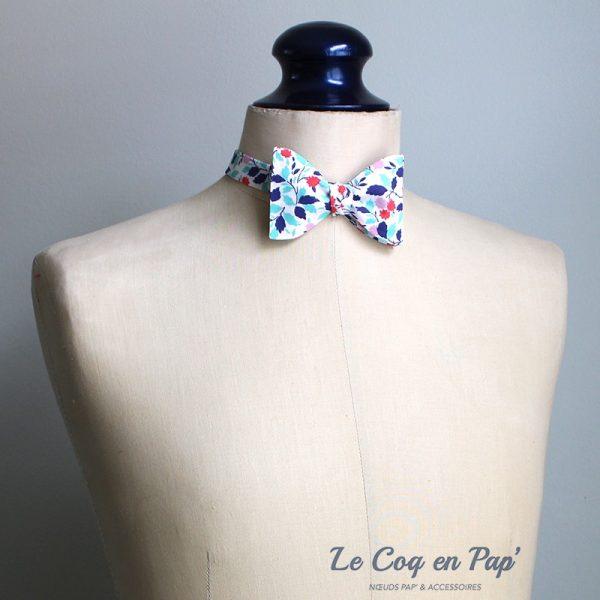 Le Coq en Pap' - Noeud papillon fleuri liberty andrea b