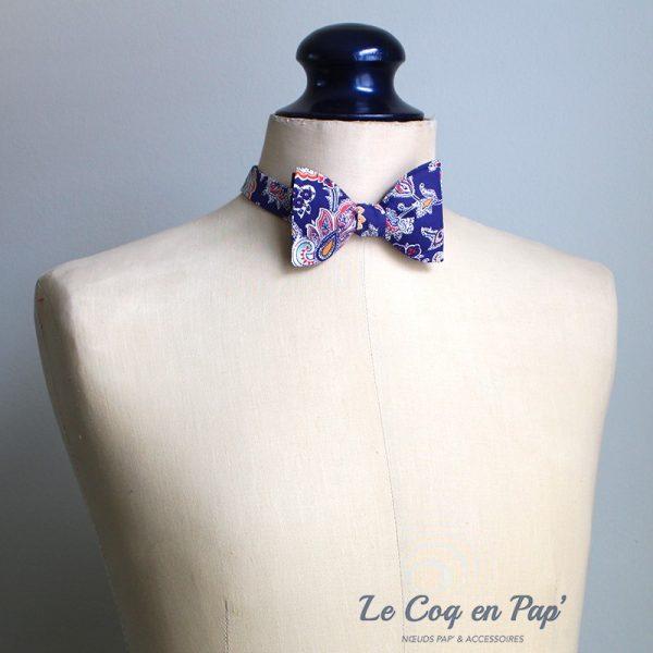 Le Coq en Pap' - Noeud papillon fleuri liberty louis a