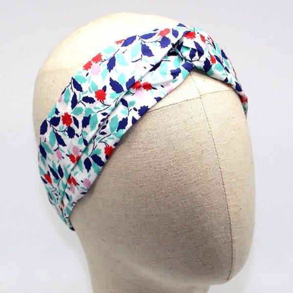 Le Coq en Pap' - Bandeau turban fleuri liberty andrea b