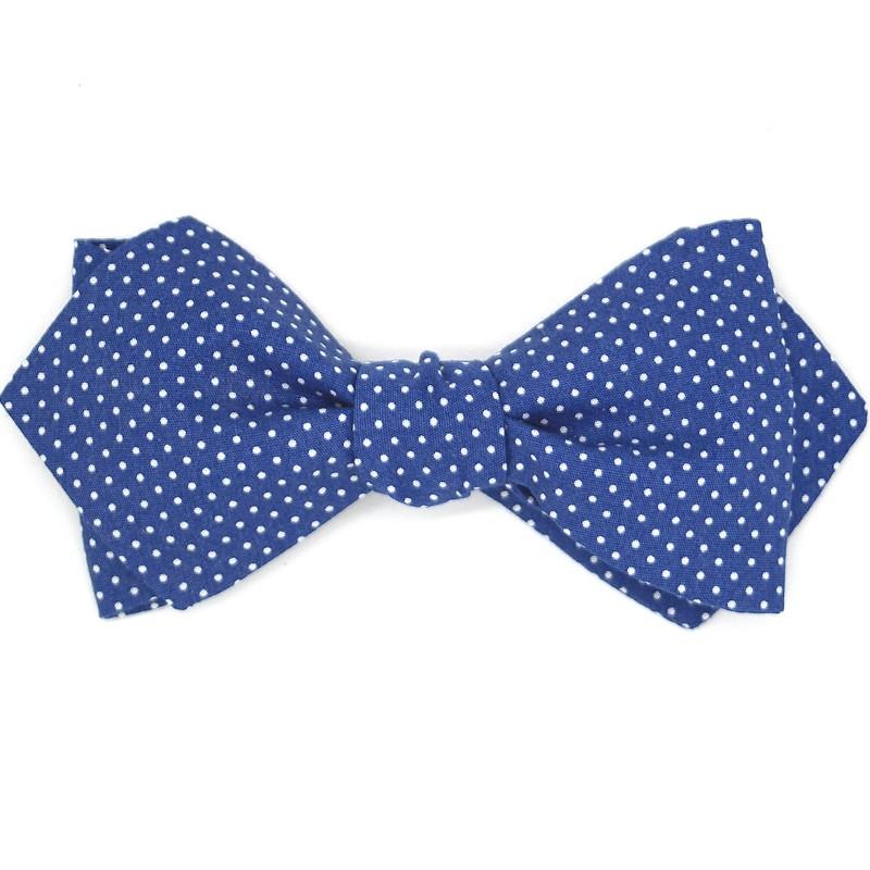80da6898c056e Noeud papillon bleu marine à pois