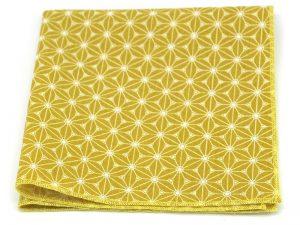 Le Coq en Pap' - Pochette de costume jaune moutarde japonais fuji