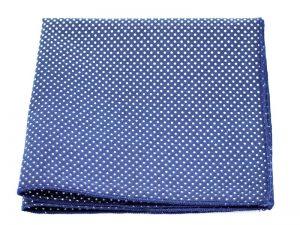 Le Coq en Pap' - Pochette de costume bleu marine à pois