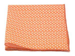 Le Coq en Pap' - Pochette de costume orange mandarine croissant