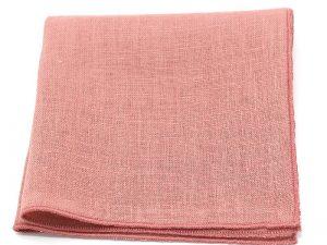 Le Coq en Pap' - Pochette de costume vieux rose uni en lin
