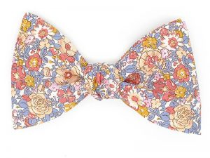 Le Coq en Pap' - Noeud papillon fleuri liberty amélie d