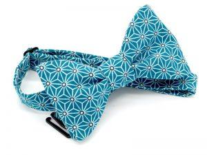 Le Coq en Pap' - Noeud papillon bleu canard japonais saki