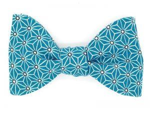 Le Coq en Pap' - Noeud papillon bleu canard japonais