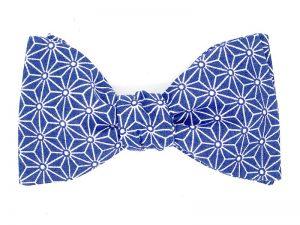 Le Coq en Pap' - Noeud papillon bleu marine japonais saki