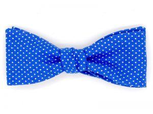 Le Coq en Pap' - Noeud papillon bleu royal à pois