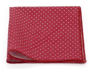 Le Coq en Pap' - Pochette de costume rouge bordeaux à pois