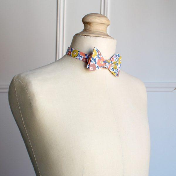 Le Coq en Pap' - Noeud papillon fleuri be pop 70's b