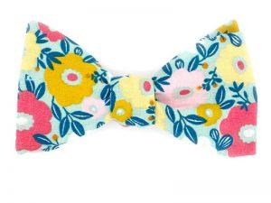 Le Coq en Pap' - Noeud Papillon fleuri be pop 70's a