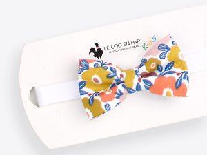 Le Coq en Pap' - Noeud papillon enfant fleuri be pop 70's b