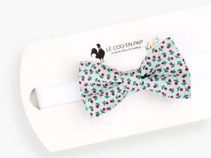 Le Coq en Pap' - Noeud papillon enfant fleuri coquelicot