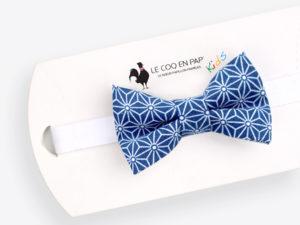 Le Coq en Pap' - Noeud papillon enfant bleu marine japonais saki