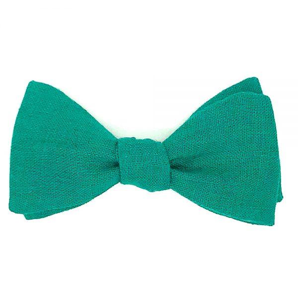 Le Coq en Pap' - Noeud papillon vert sapin uni en lin