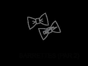 Le Coq en Pap' - Barrettes (lot de 2) Tissus au choix