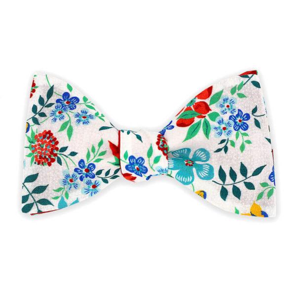 Le Coq en Pap' - Noeud papillon fleuri liberty edenham g
