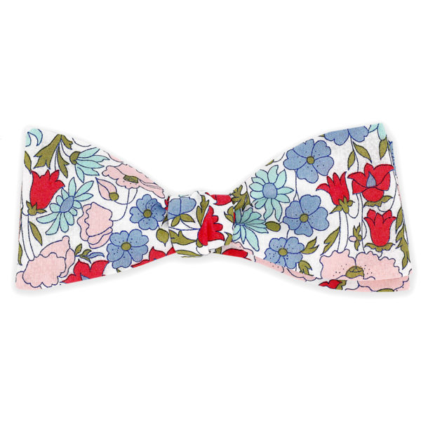 Le Coq en Pap' - Noeud papillon fleuri liberty poppy daisy a